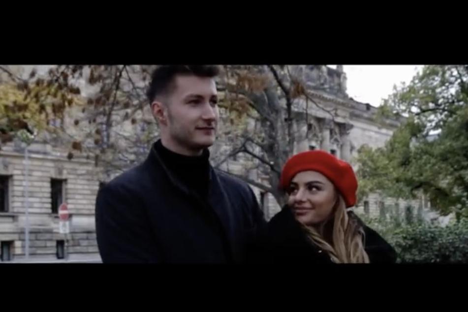 """Musikproduzent Richard Teufel (25, l.) und """"Leben. Lieben. Leipzig""""-Darstellerin Stefanie Morela (27) sind im Video zu """"Alles was ich brauche"""" gemeinsam zu sehen."""