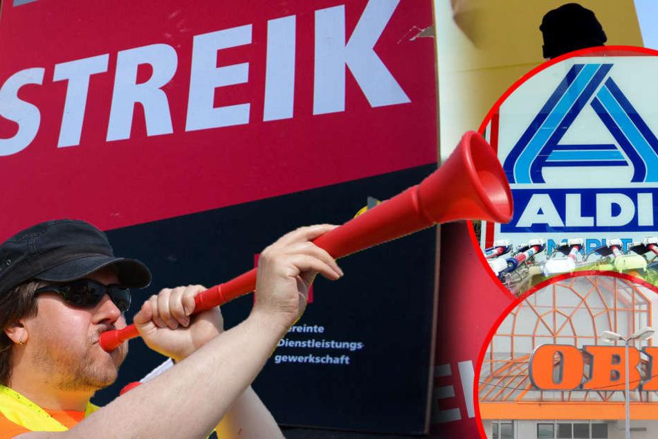Streik in Leipzig: Bleiben heute Aldi, Obi und Co. geschlossen?