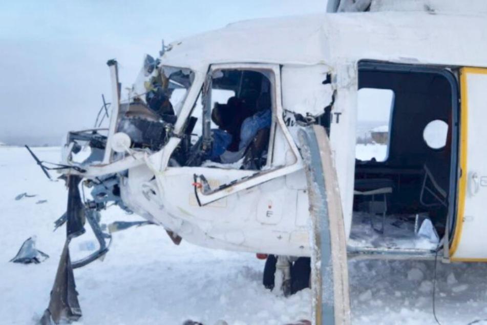 Hubschrauber-Notlandung in schlimmem Schneesturm: 15 Menschen verletzt