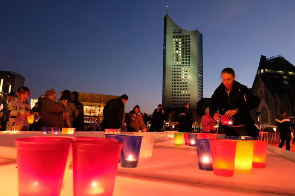 Lichträume und Lichtweg sollen den Image-Schaden des Leipziger Lichtfestes in diesem Jahr wettmachen.