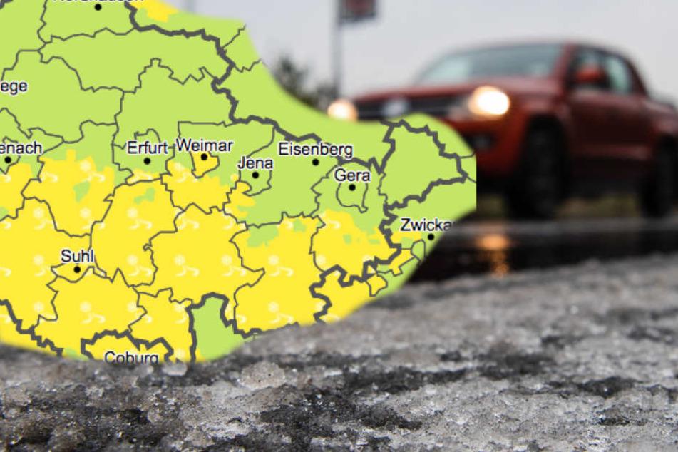 Achtung Autofahrer! Wetterdienst warnt vor rutschigen Straßen