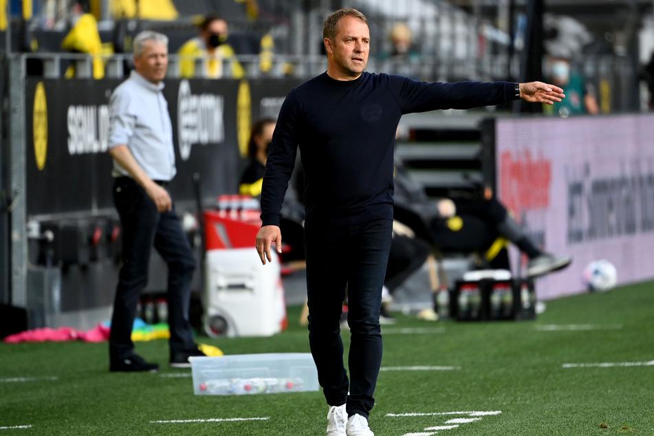 Bayern-Trainer Hansi Flick zeigte sich nach dem Sieg des FC Bayern München gegen Borussia Dortmund sehr zufrieden.