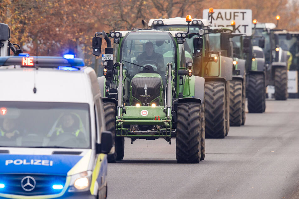 Immer wieder protestieren bundesweit Milchbauern für gerechtere Preise. (Archiv)