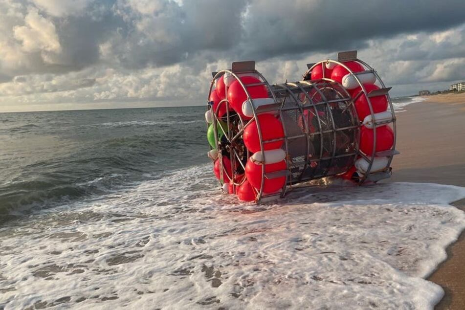 Florida man stopped by Coast Guard while traveling to New York in floating hamster wheel