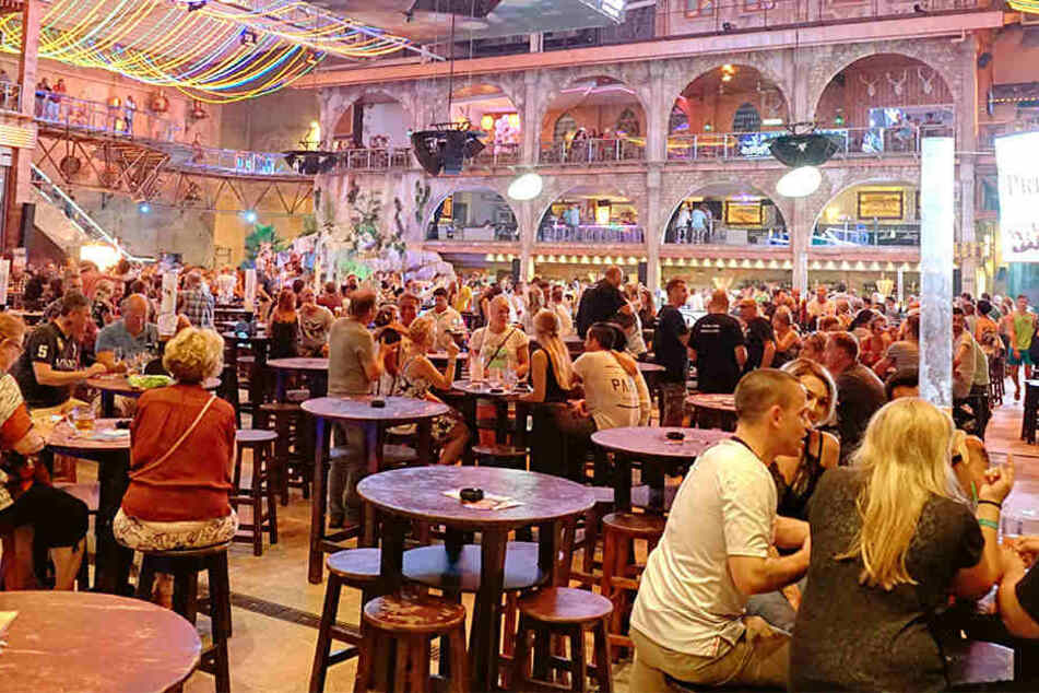 Der Partybereich bleibt erhalten. Das Restaurant-Areal vom Megapark auf Mallorca muss schließen.