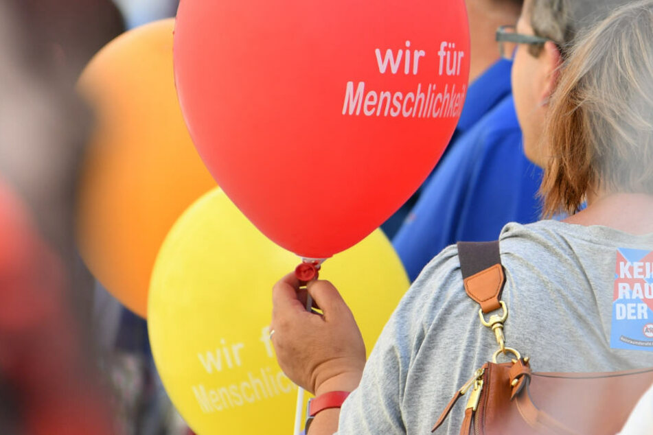 Für Menschlichkeit: 9000 Menschen demonstrieren in Mannheim