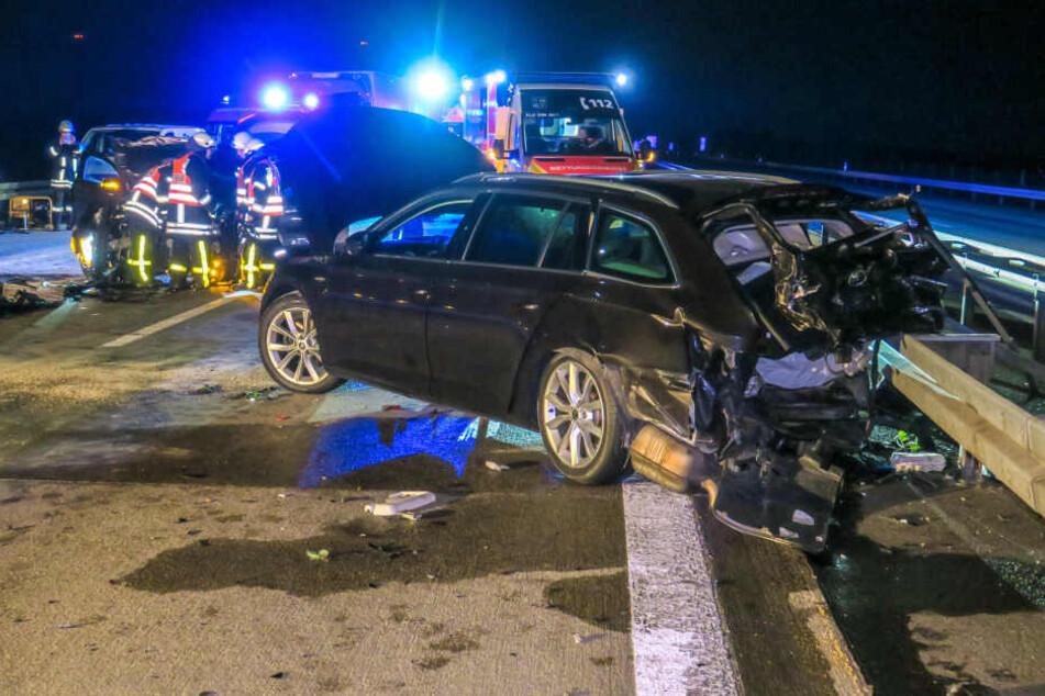 Sechs Verletzte bei heftigem Crash auf A72