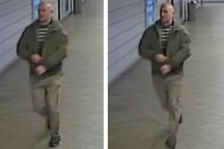Dieser Mann überfiel am 3. März eine Seniorin auf der Treppe zum U-Bahnhof Weberwiese.