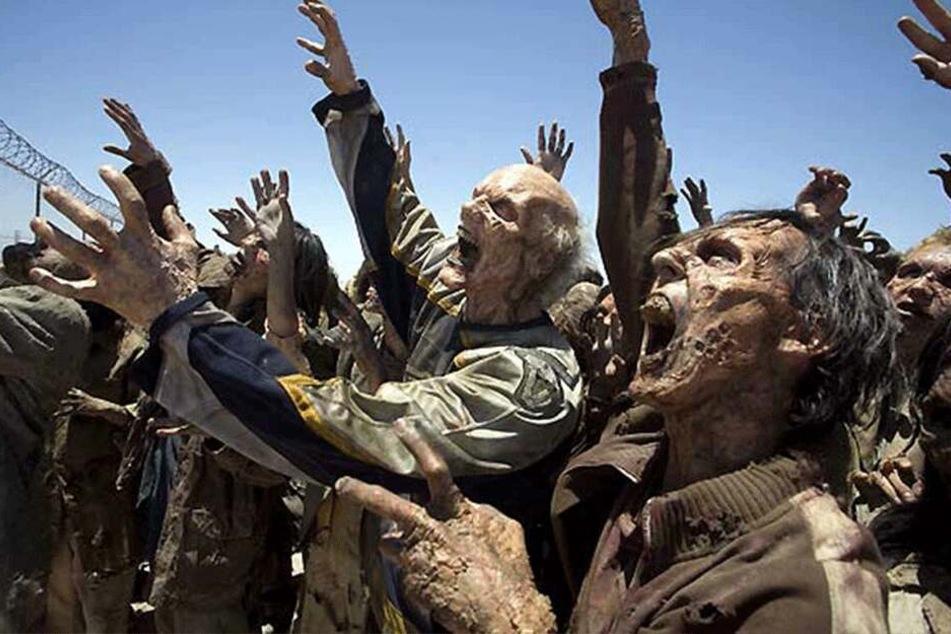 In der apokalyptischen Welt wurden unzählige Menschen zu Zombies verwandelt.
