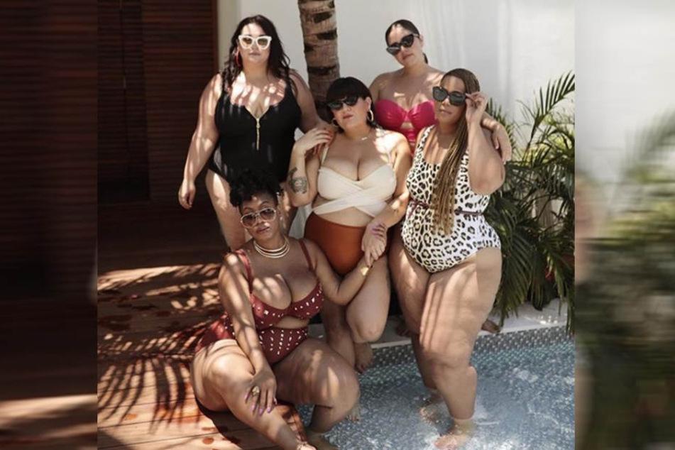 Nicolette Mason (Mi.) und die Plus-Size-Models zeigen, dass es keinen Grund gibt, weshalb Mode für füllige Frauen öde sein muss.