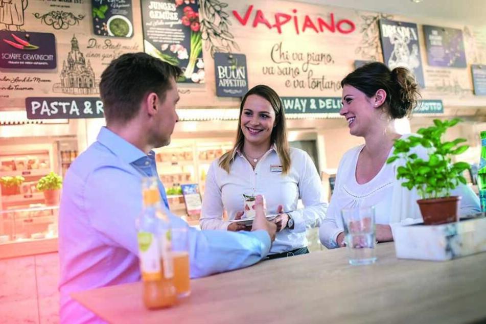 Trefft Euch einfach mit Freunden bei einem der Kooperationspartner (wie hier Vapiano) und profitiert von der Aktion.