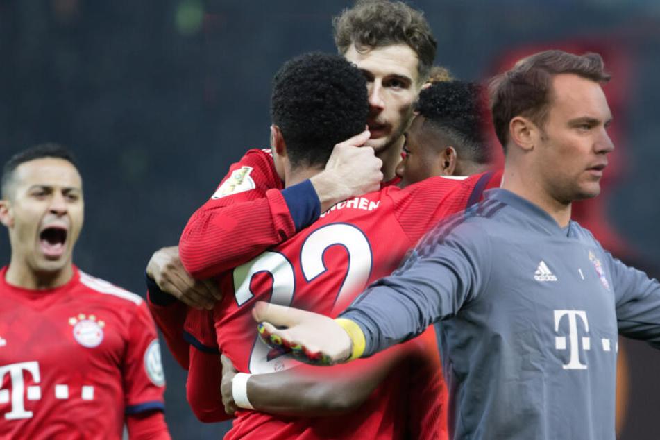 Der FC Bayern reist mit ausgedünntem Kader nach Gladbach; Manuel Neuer (r.) ist allerdings mit dabei. (Bildmontage)
