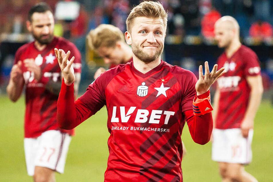 Erzielte ein Tor und bereitete einen weiteren Treffer direkt vor: Wisla Krakaus Kapitän Jakub Blaszczykowski.