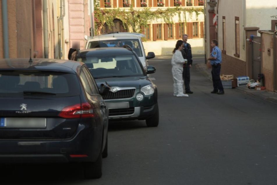 Die Polizei vor Ort in Kirchheim.