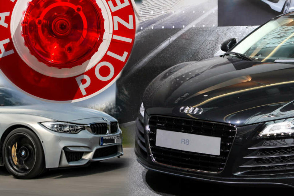 Die Ermittler stoppten einen Audi R8 und einen BMW M4 (Symbolbild).