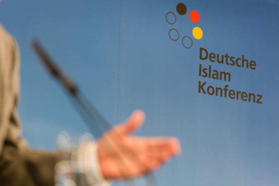 Das Logo der Deutschen Islam Konferenz, die in Berlin stattfindet.