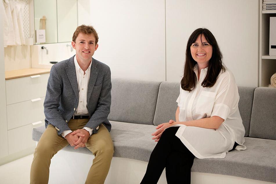 Hasier Larrea (re.), Gründer und CEO von Ori, und Seana Strawn, Produktentwicklerin bei IKEA Schweden.