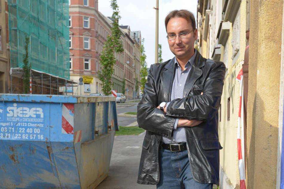 Sandro Schmalfuß (39), Stadthistoriker.