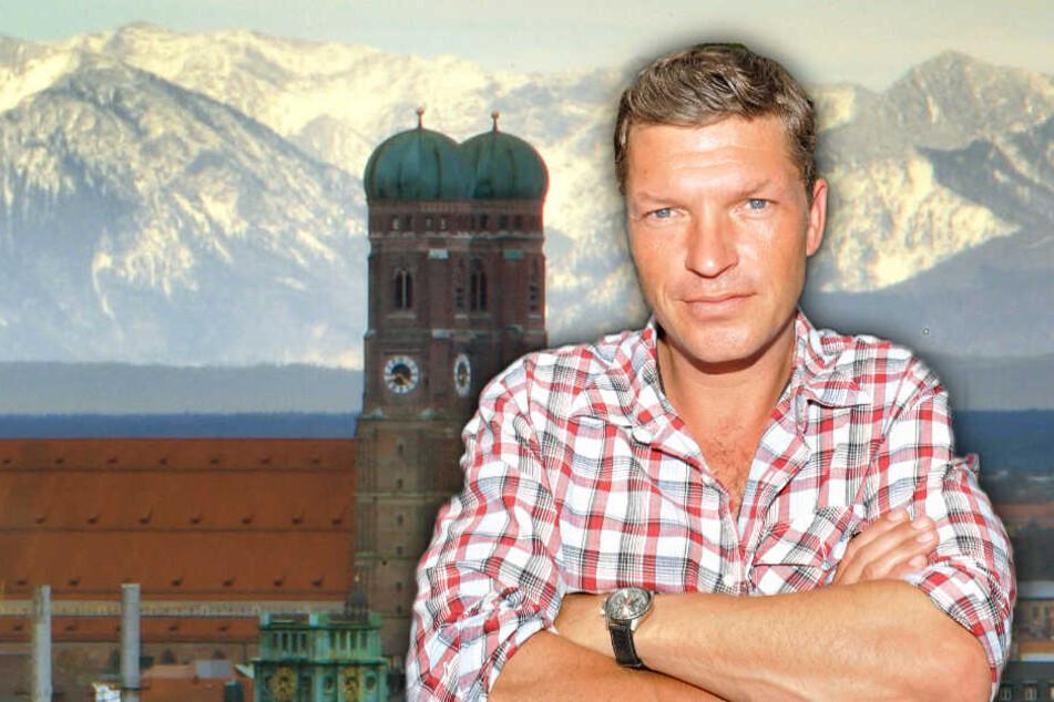 Der Schauspieler Hardy Krüger junior schaut in die Kamera. (Bildmontage)