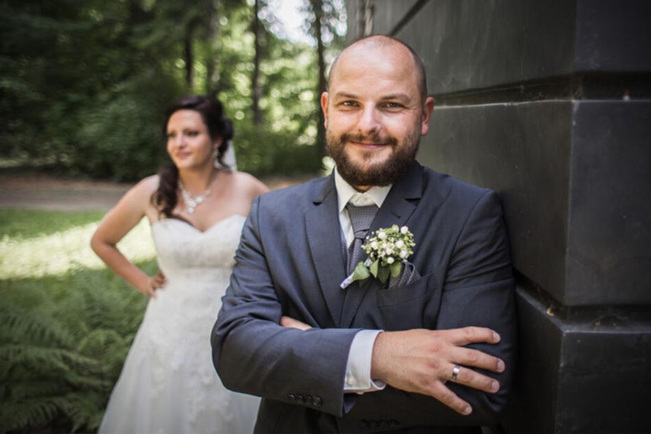Hier war die Welt noch in Ordnung: Sebastian und Franziska Böhme bei ihrer Hochzeit. Danach geriet die Welt aus den Fugen.