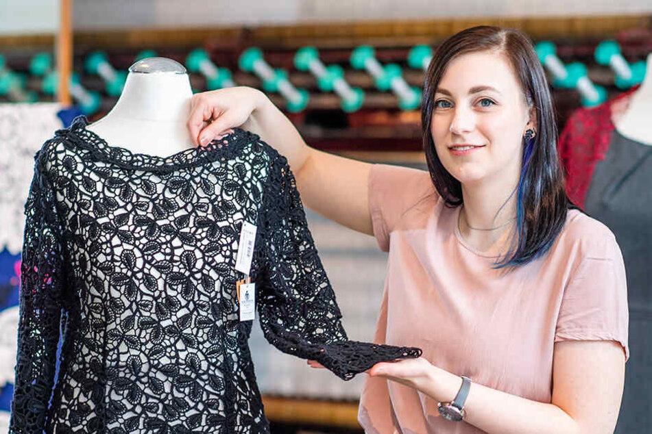 Für Modehäuser weltweit: Plauener Spitze gibt's jetzt auch voll Öko!