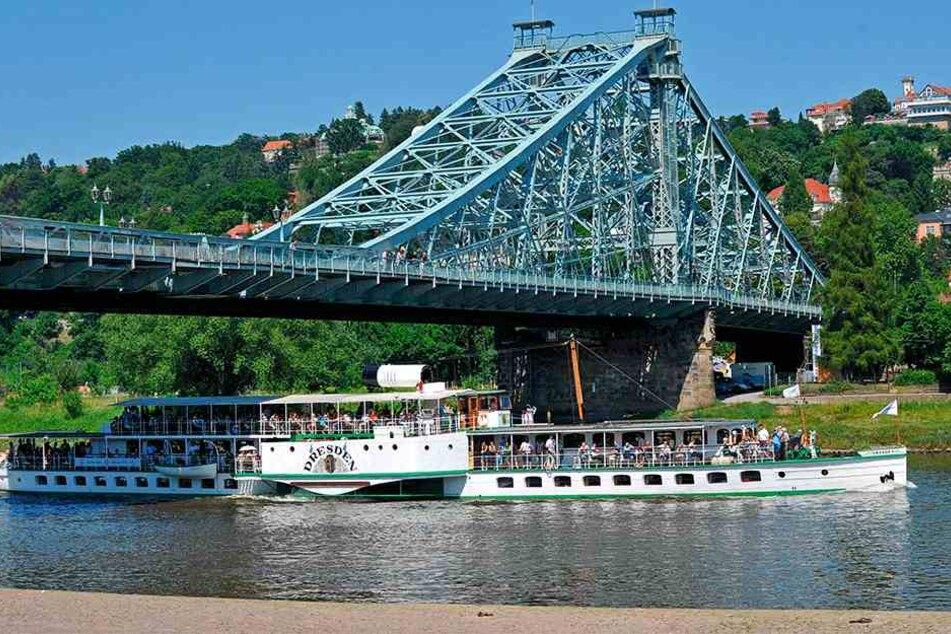 Mit einer Dampferparade will Dresden bei den 1000 Kongressteilnehmern punkten.