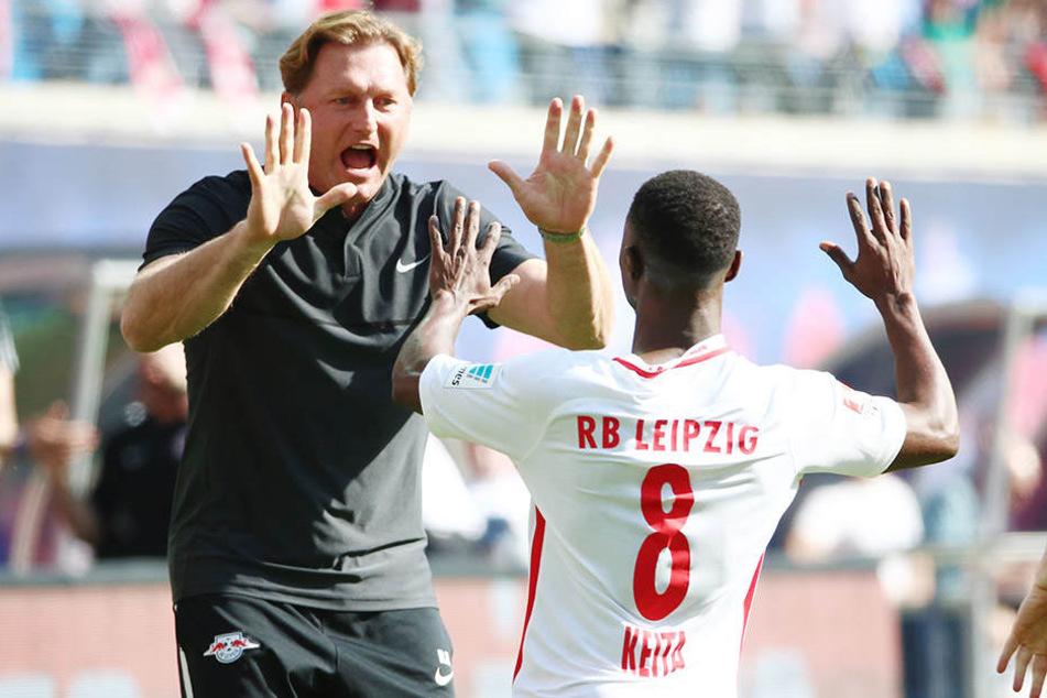 Dreamteam: Trainer Ralph Hasenhüttl kann sich auf Naby Keita verlassen.