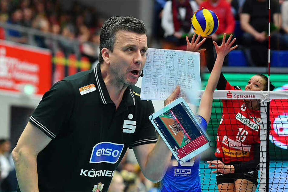 DSC-Coach Alex Waibl war trotz der Niederlage zufrieden mit seine Girls.