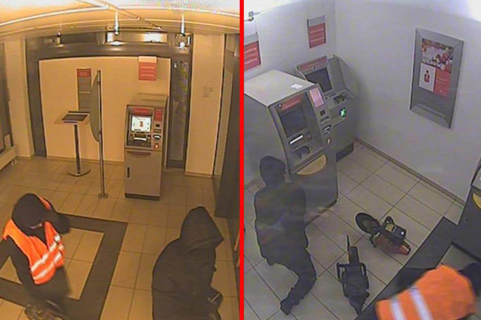 Nach einer halben Stunde verließen die Täter die Sparkasse wieder.