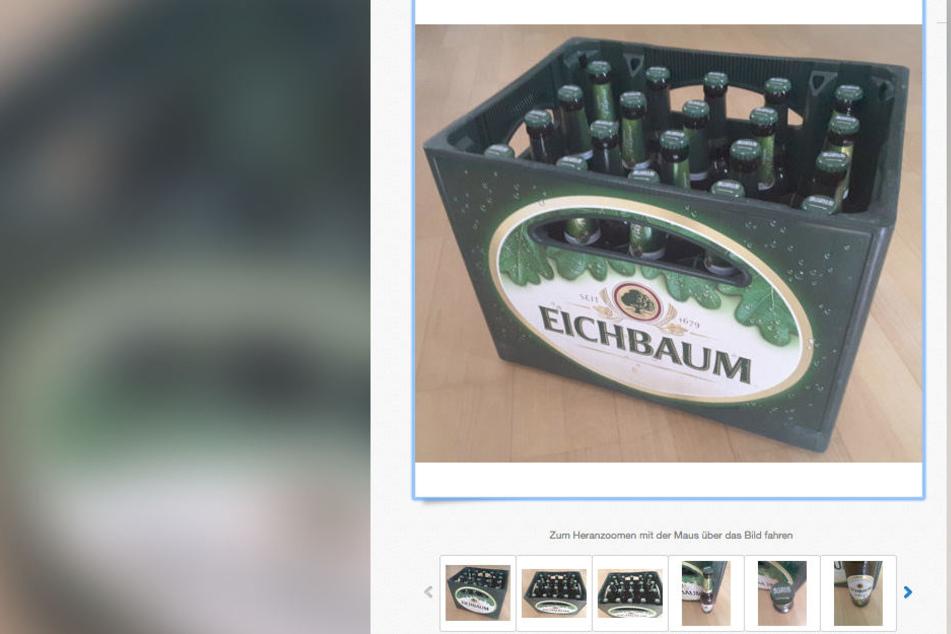 Dafür muss man nun ordentlich Geld hinlegen: Ein Kasten des Eichbaum-Bieres, an dem sich ein Shitstorm entzündete.