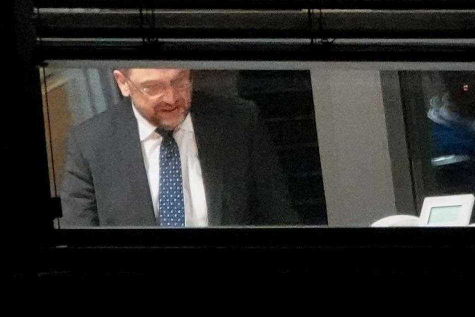 Der SPD-Vorsitzende Martin Schulz während der Verhandlungen.