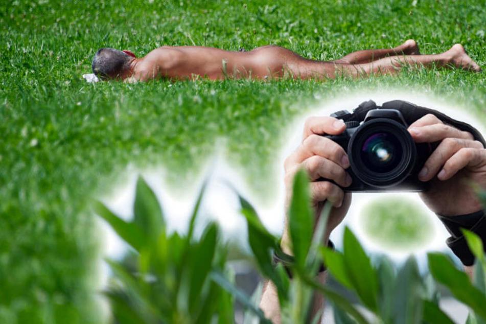 Der Mann fotografierte heimlich Nackte mit einer Kamera. (Symbolbild)
