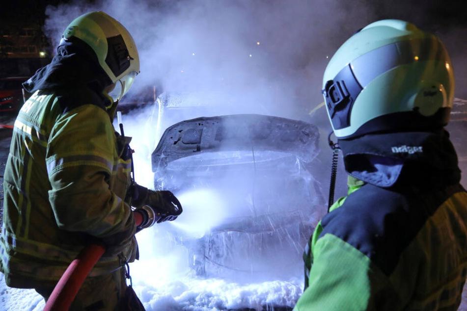 Feuerwehrleute beim Einsatz.