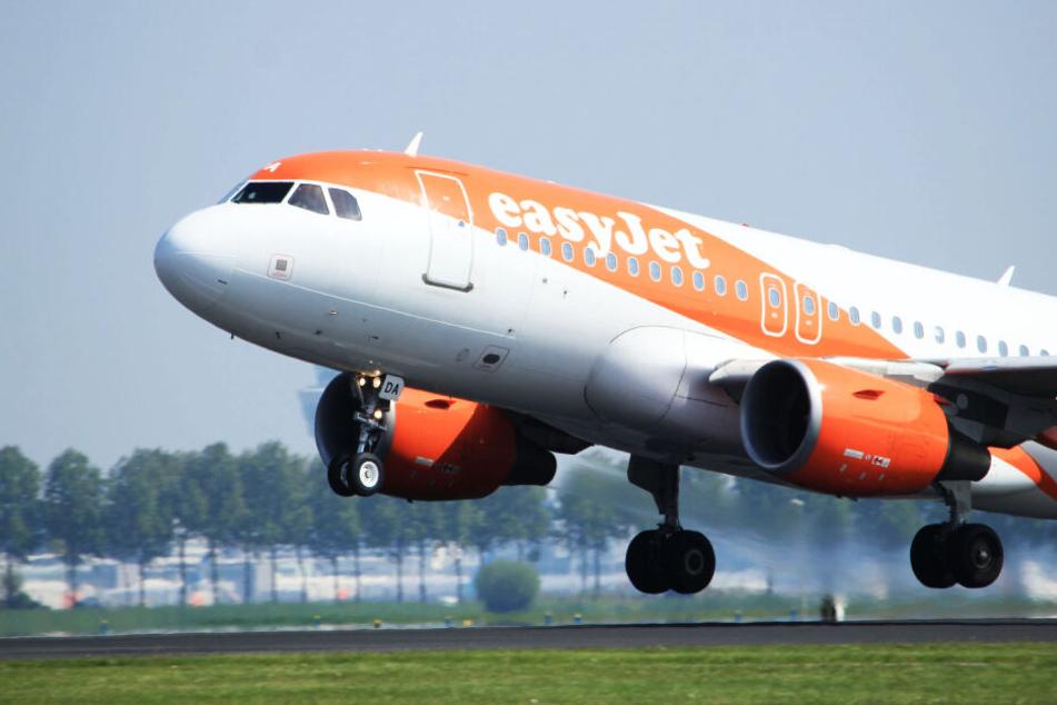 Eine Easyjet-Maschine startet am Flughafen Amsterdam-Schiphol (Symbolbild).