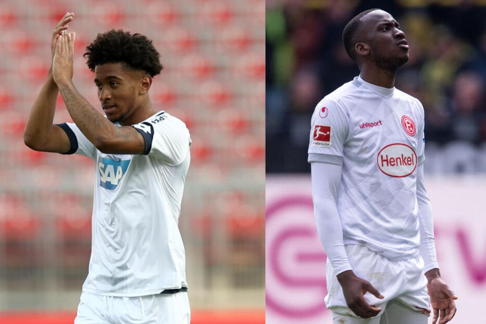 Keine Unbekannten: Reiss Nelson (l.) und Dodi Lukebakio (r.) spielten auf Leihbasis in der Bundesliga.