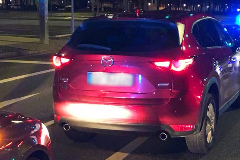 Der gestohlene Mazda wurde von der Polizei sichergestellt.