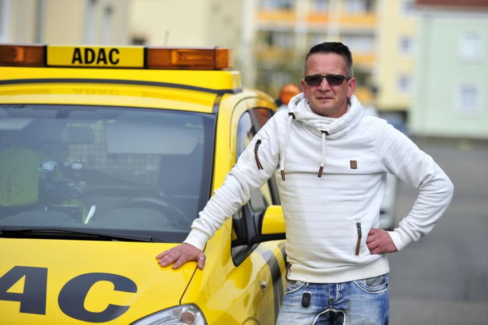 Er ist ein spontaner Lebensretter: Michael Barth (41) war in Flöha zur  richtigen Zeit am richtigen Ort.