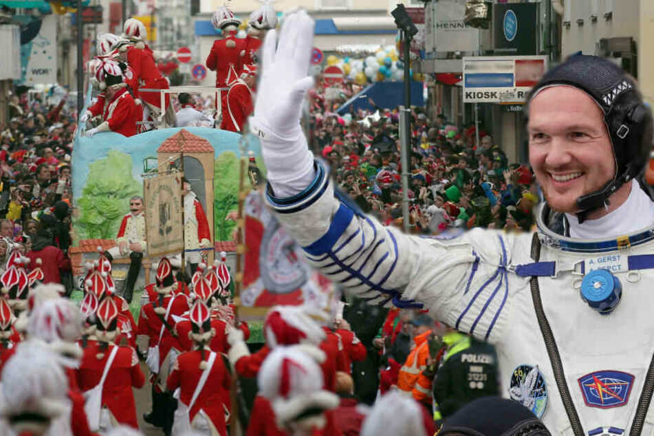 Alexander Gerst wird beim Rosenmontagszug dabei sein, aber nicht als Raumfahrer.