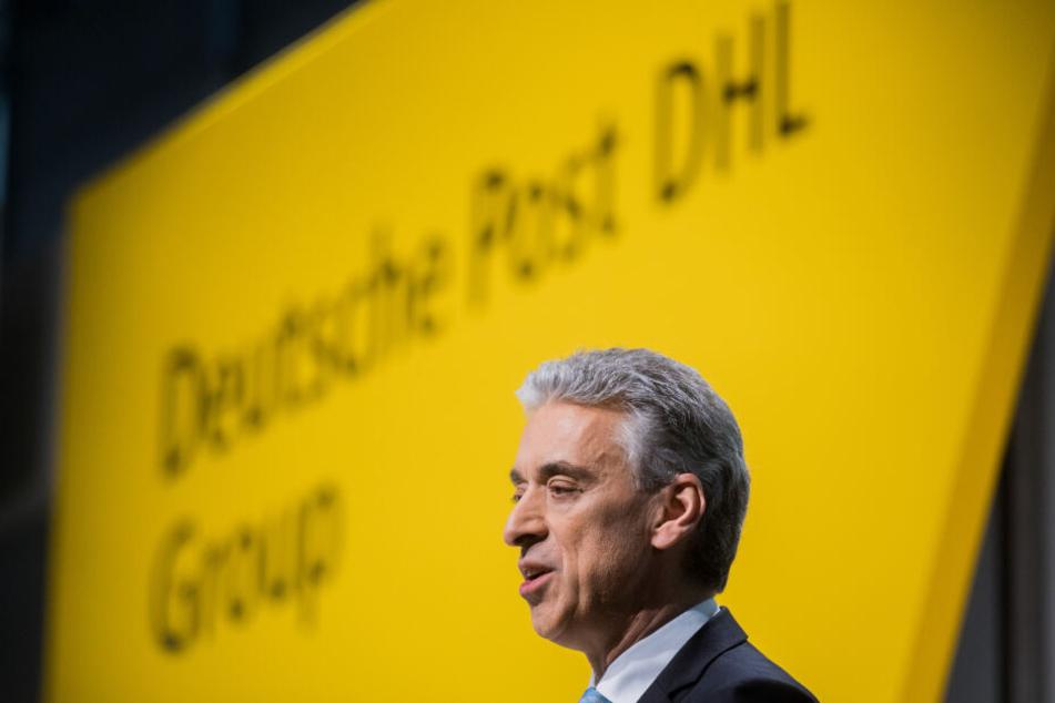 Frank Appel, Vorstandsvorsitzender der Deutsche Post DHL Group, spricht bei einer Bilanzpressekonferenz seines Unternehmens.