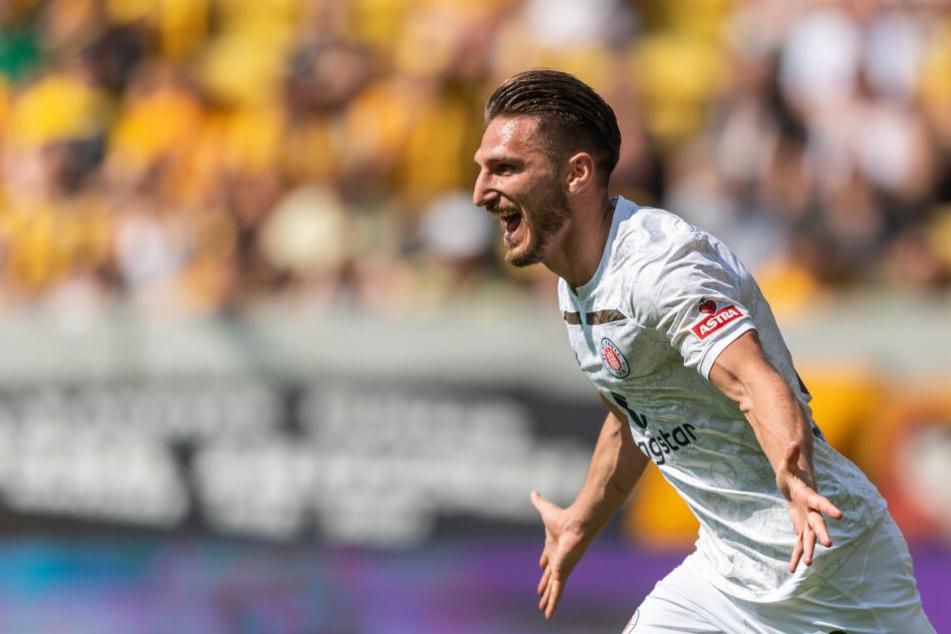 Dimitrios Diamantakos jubelt über einen Treffer.