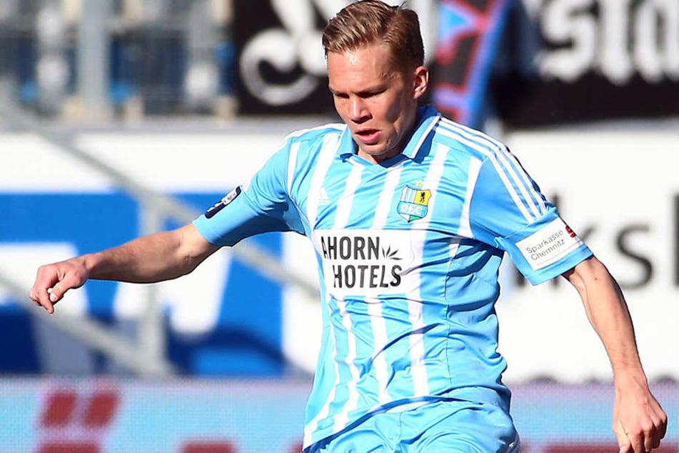 Von 2014-2016 kickte Grote an der Wedau. Jetzt trägt er das Chemnitzer Trikot.