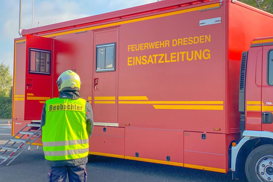Ein Foto vom Übungseinsatz auf der Hamburger Straße.
