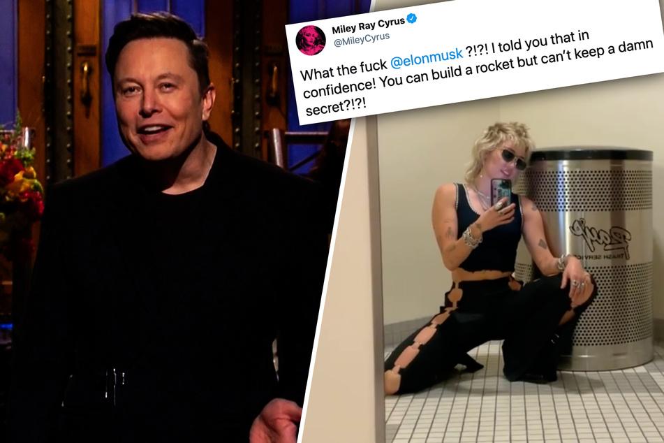 """Miley Cyrus ribs Elon Musk on Twitter after he spills her """"secret"""""""