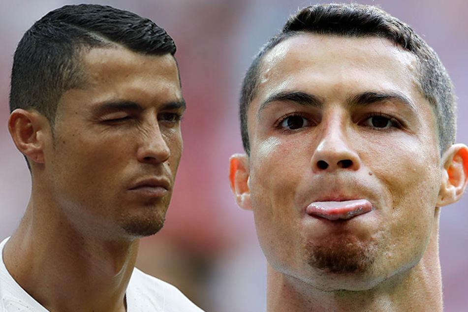 Ob Cristiano Ronaldo cool bleibt und den Vorfall mit einem Augenzwinkern abtut?