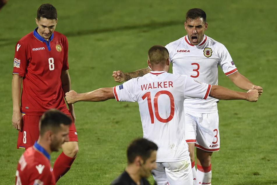 Die Fußballer aus Gibraltar haben nach 22 Pflichtspielniederlagen erstmals gewonnen.