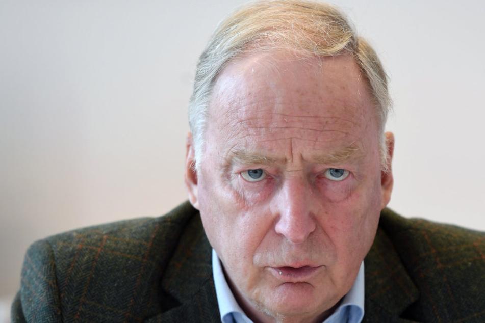 """Alexander Gauland (75, AfD): """"Noch nicht einmal das demokratische Minimum"""" gelte in Brandenburg."""