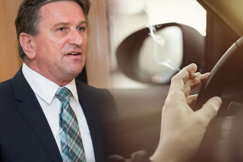 Sozialminister Manne Lucha (Grüne) spricht sich für das Rauchverbot in Autos mit Kindern aus.