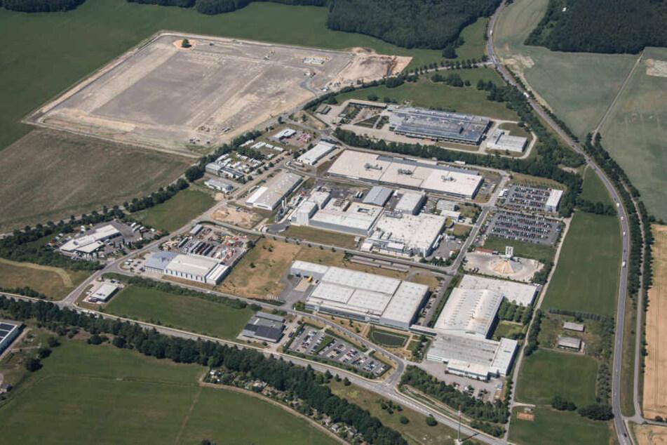 Blick auf das Gewerbegebiet Kamenz. Die Daimler-Batteriefabrik soll eine der größten weltweit werden.