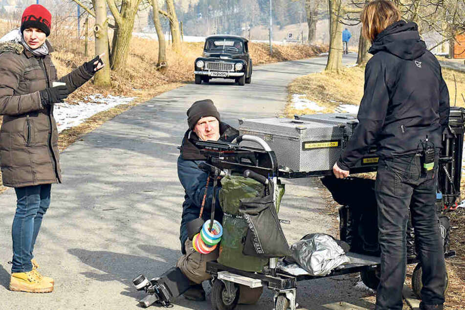 """Letzte Vorbereitungen für den Dreh: Filmset in Frauenstein für den Historienstreifen """"Warum"""", der nächstes Jahr in die Kinos kommen soll."""