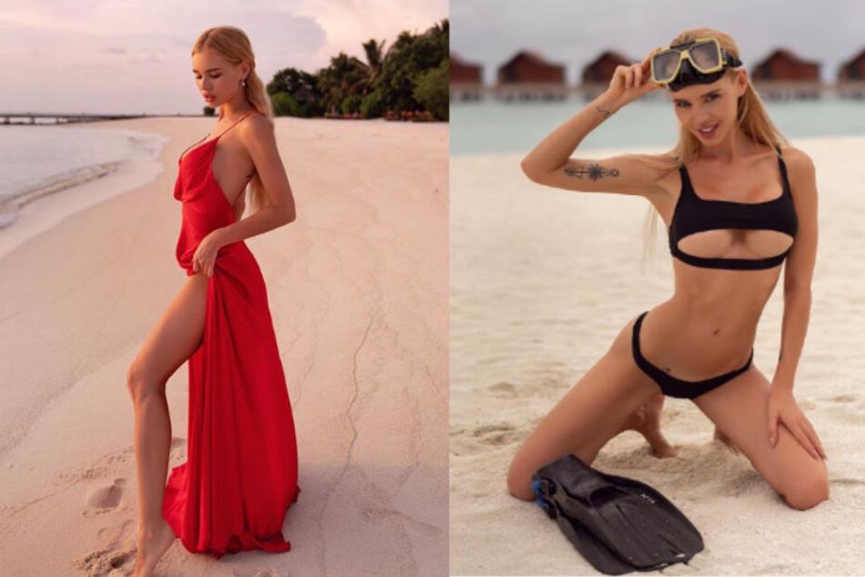 Das 30-jährige Instagram-Model lässt es sich auf den Koralleninseln im Indischen Ozean sichtlich gut gehen.